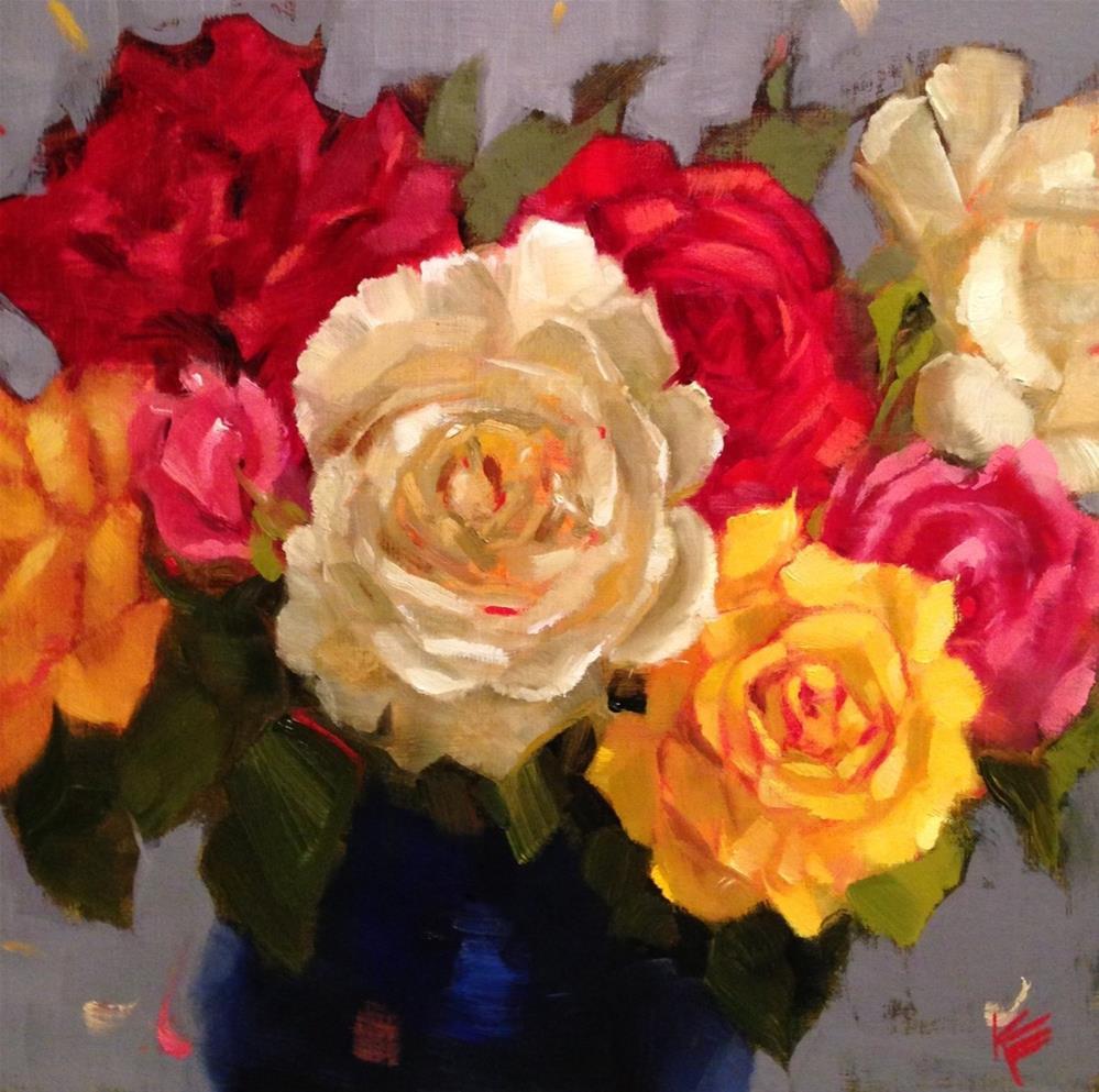 """Queen of Flowers"" original fine art by Krista Eaton"