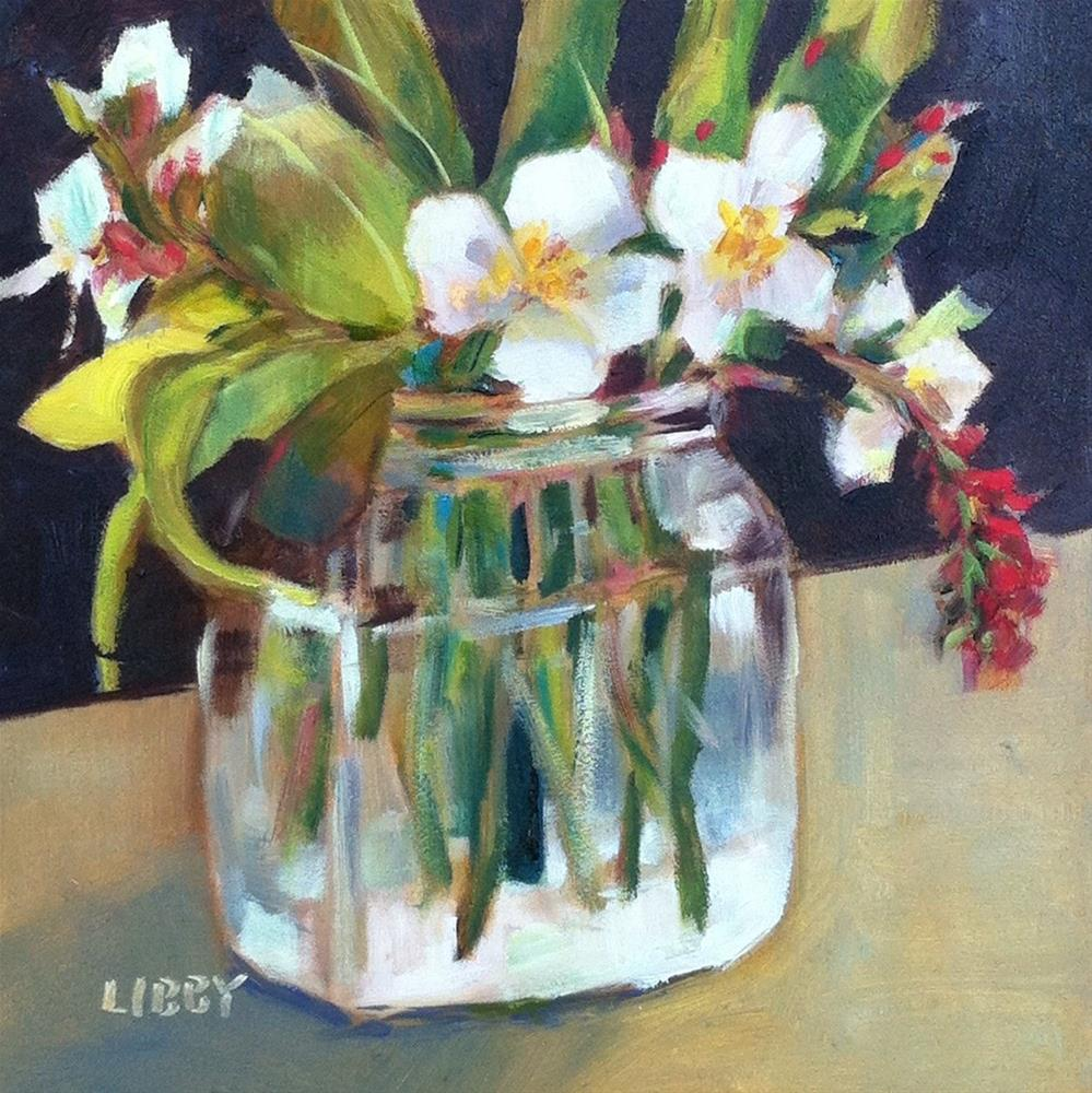 """Quiet White"" original fine art by Libby Anderson"