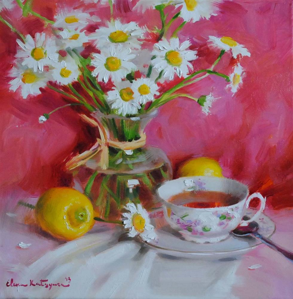 """Chamomile Tea"" original fine art by Elena Katsyura"