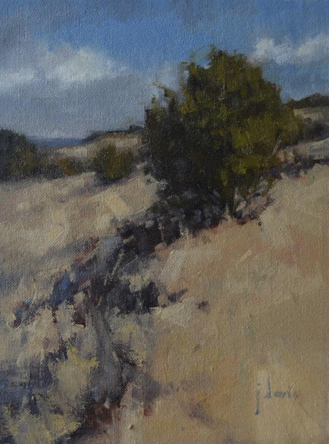 """""""Hillside"""" original fine art by Julie Davis"""