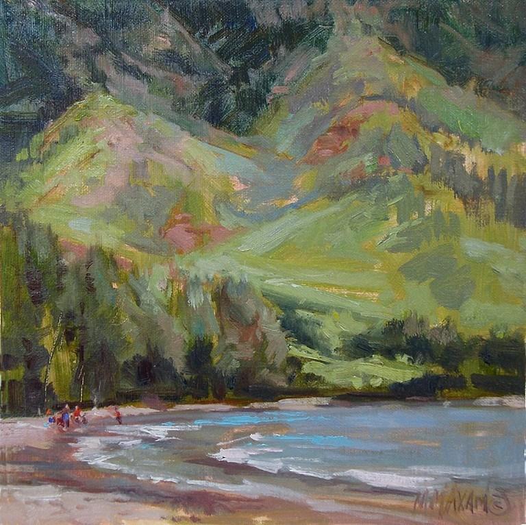 """Big Island Cove"" original fine art by Mary Maxam"