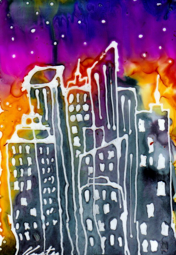 """City1"" original fine art by Kristen Dukat"
