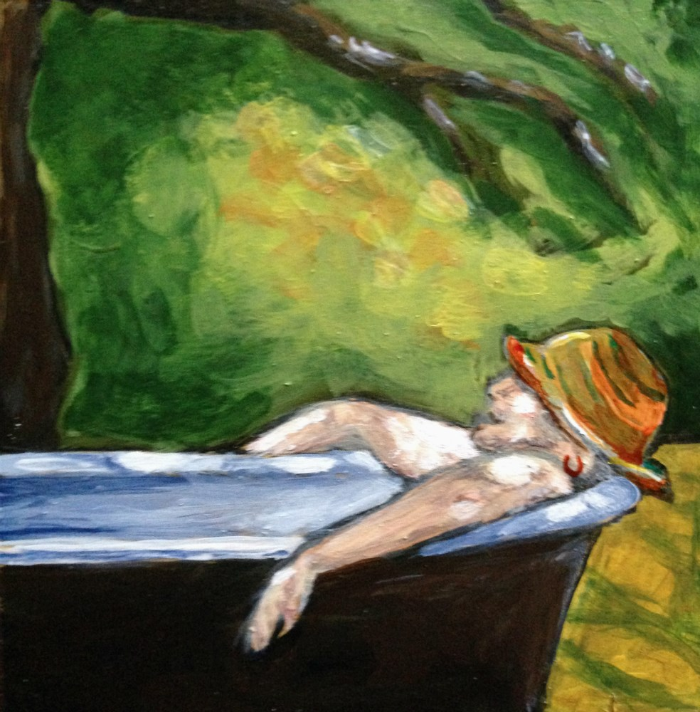 """""""Relaxation - Sold"""" original fine art by Colleen OHair"""