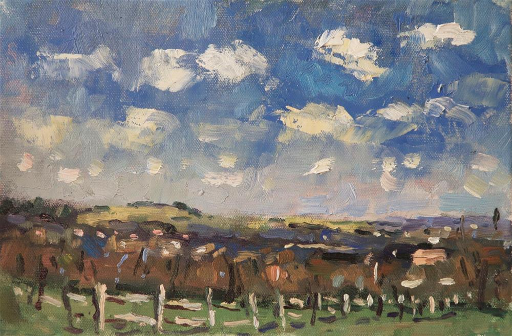 """""""Findon Valley"""" original fine art by Andre Pallat"""