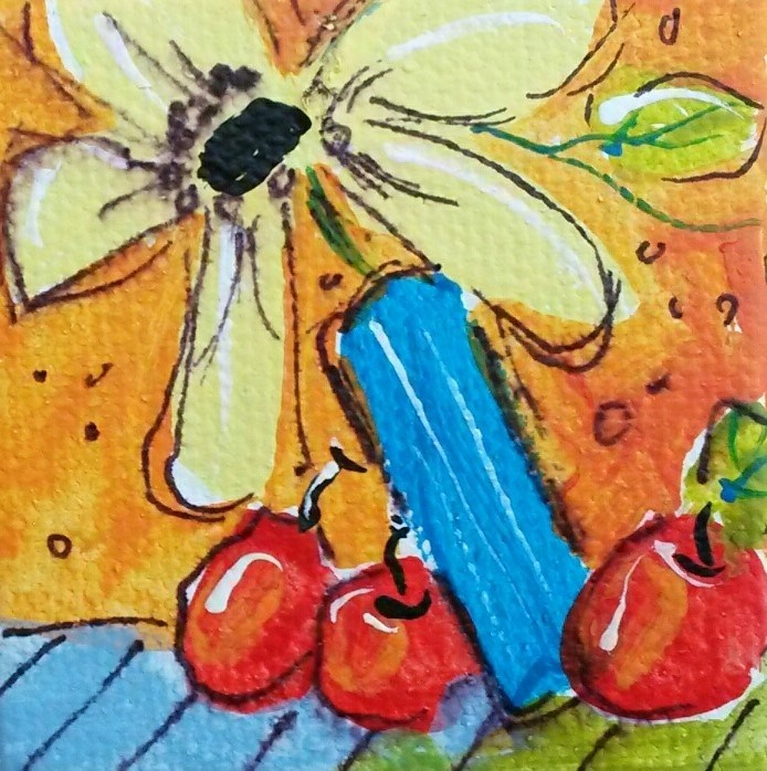 """Itty Bitty Dance"" original fine art by Terri Einer"