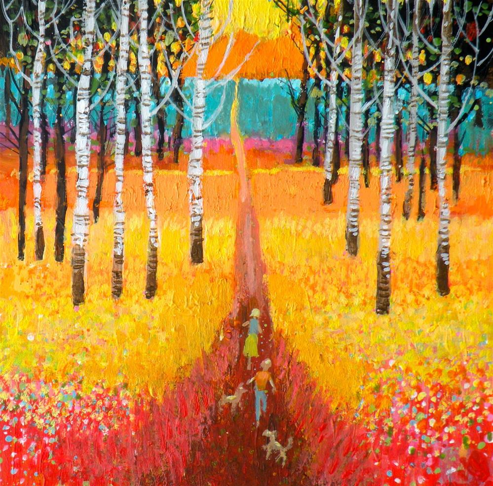 """The Long Walk"" original fine art by Toni Goffe"