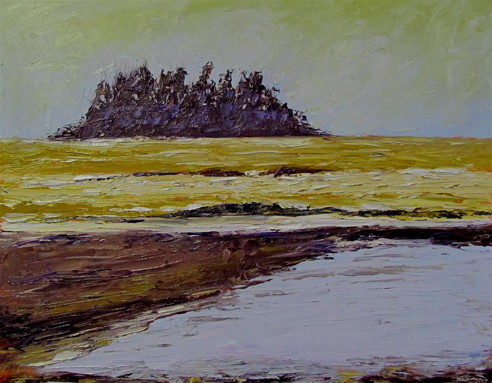 """8 x 10 inch oil Tofino Sunset"" original fine art by Linda Yurgensen"