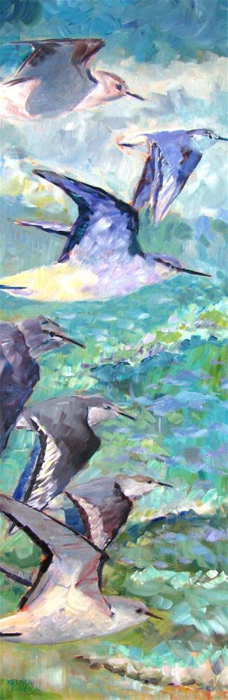 """Birds in Flight"" original fine art by Melissa Gannon"