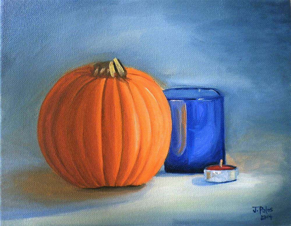"""Cute Pumpkin"" original fine art by Joann Polos"