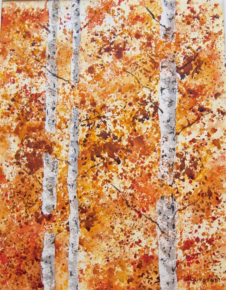"""""""In The Fall"""" original fine art by Jean Lurssen"""
