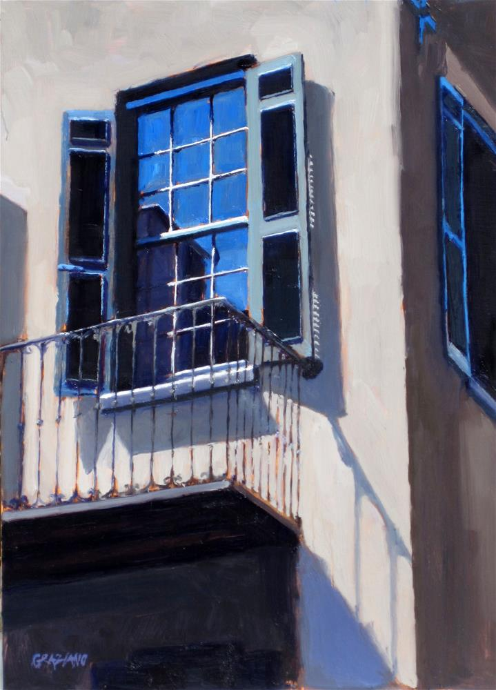 """Charleston balcony"" original fine art by Dan Graziano"