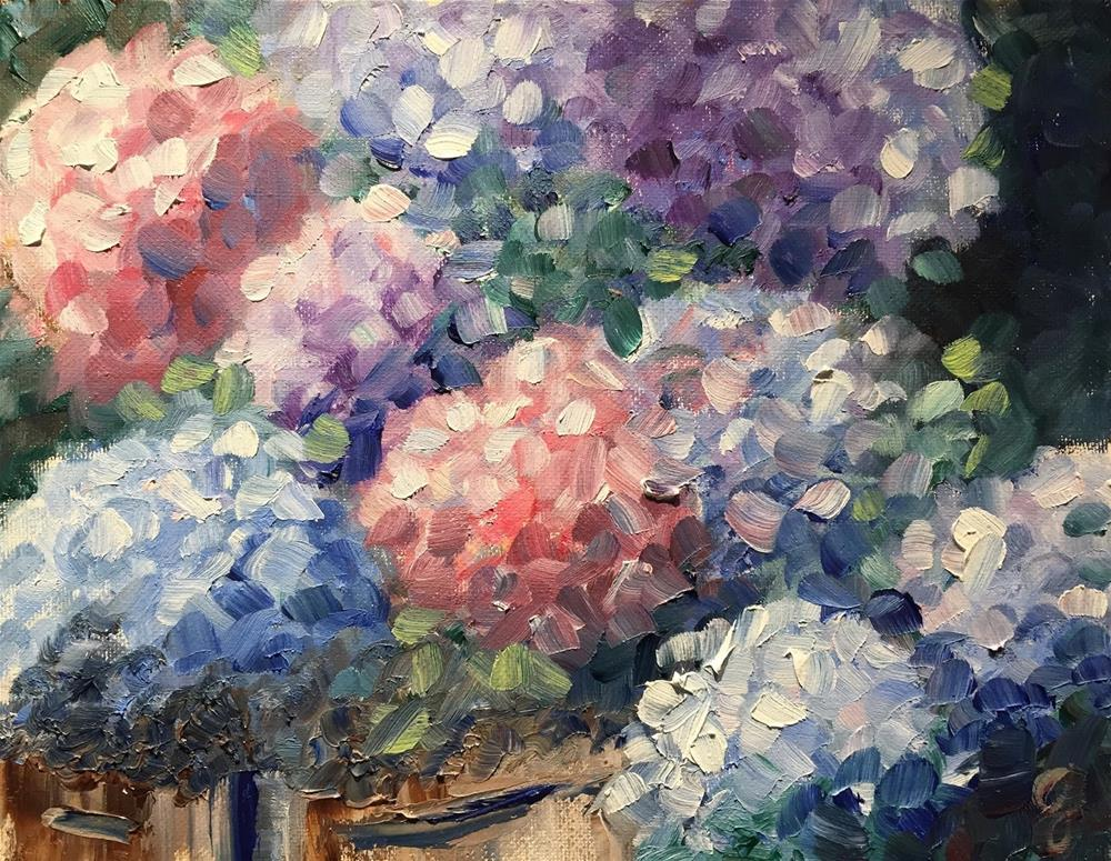 """Summer Blooms"" original fine art by Gayle Lambeth"