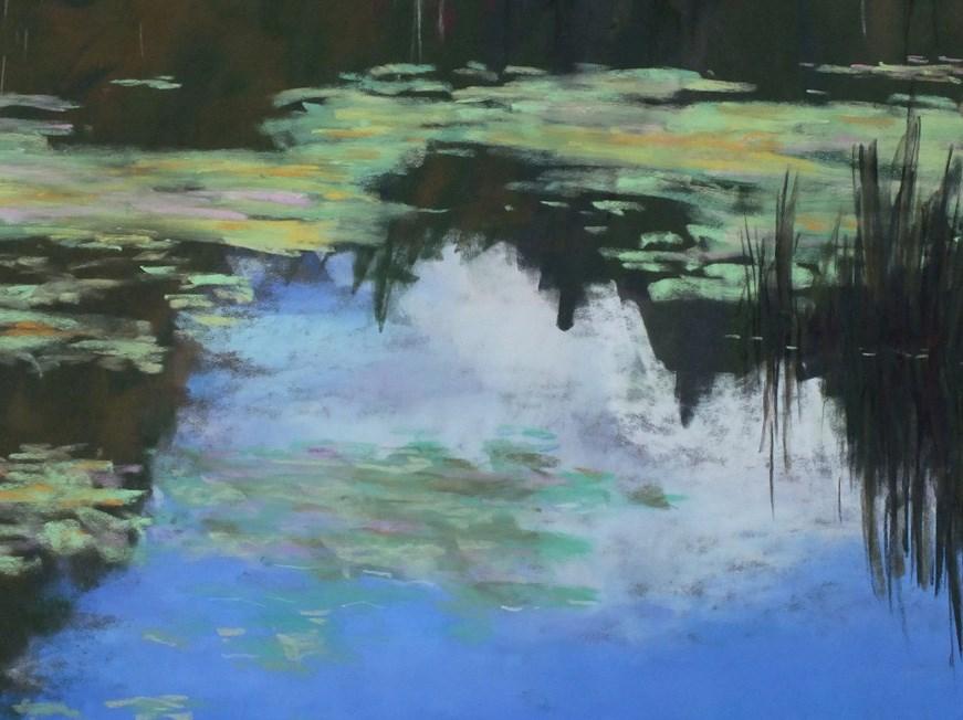 """""""Water Lilies"""" original fine art by Linee Baird"""