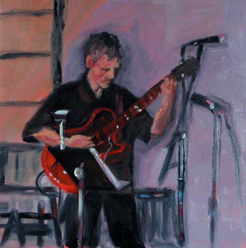 """Humboldt Time (The Guitar Player)"" original fine art by Cietha Wilson"