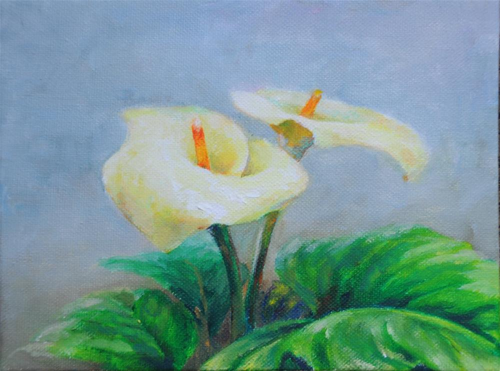 """lily"" original fine art by Joy Cai"