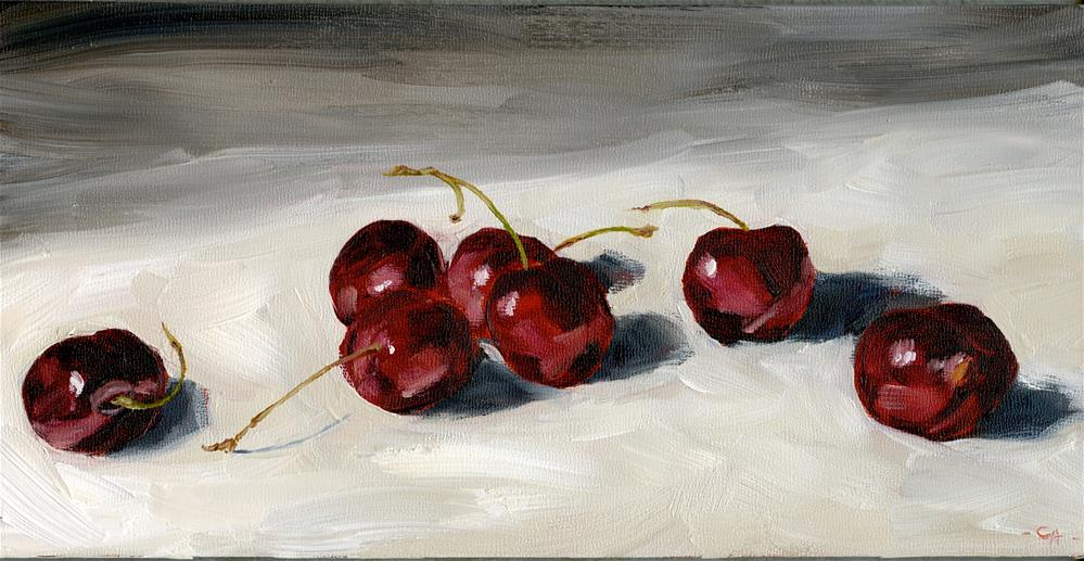 """Cherry Study"" original fine art by Cynthia Armstrong"