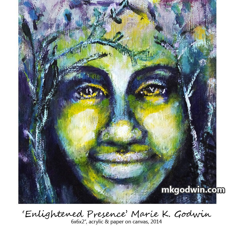 """Enlightened Presence"" original fine art by Marie K Godwin"