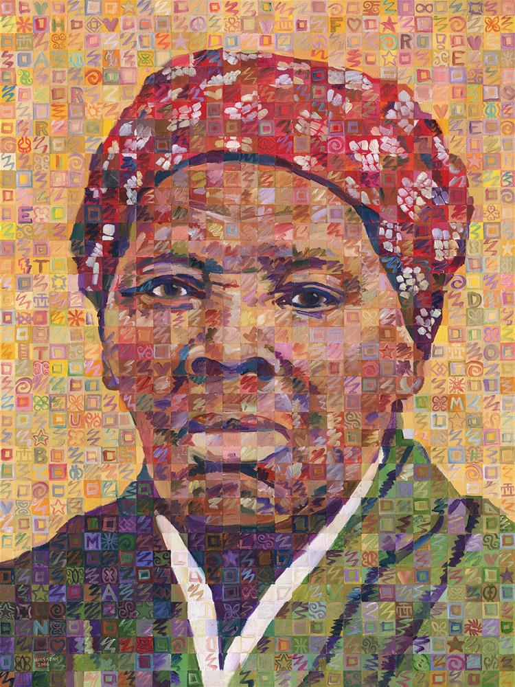 """Voices Of Freedom – Harriet Tubman"" original fine art by Randal Huiskens"