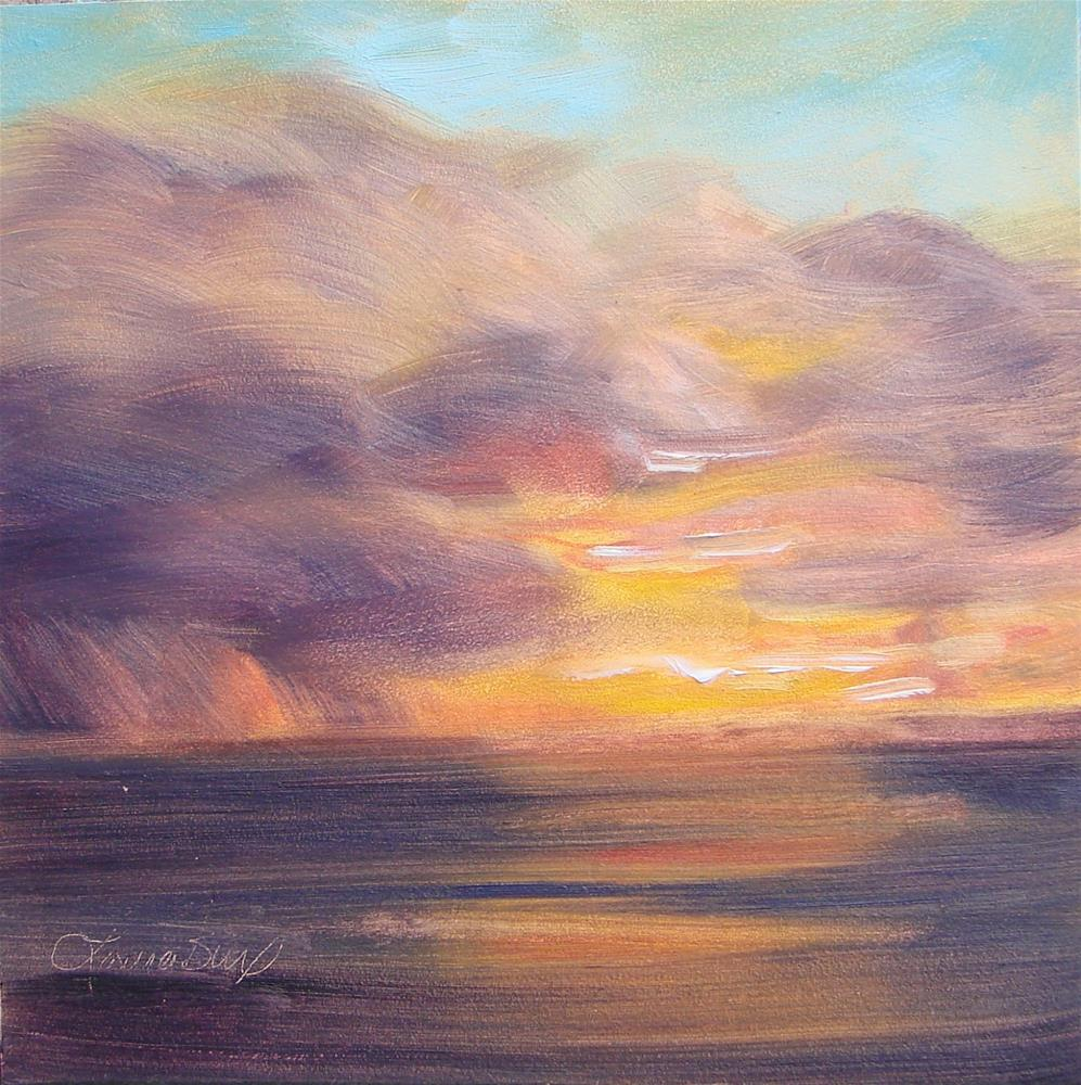 """Last Sunset (for now)  134"" original fine art by Laura  Buxo"
