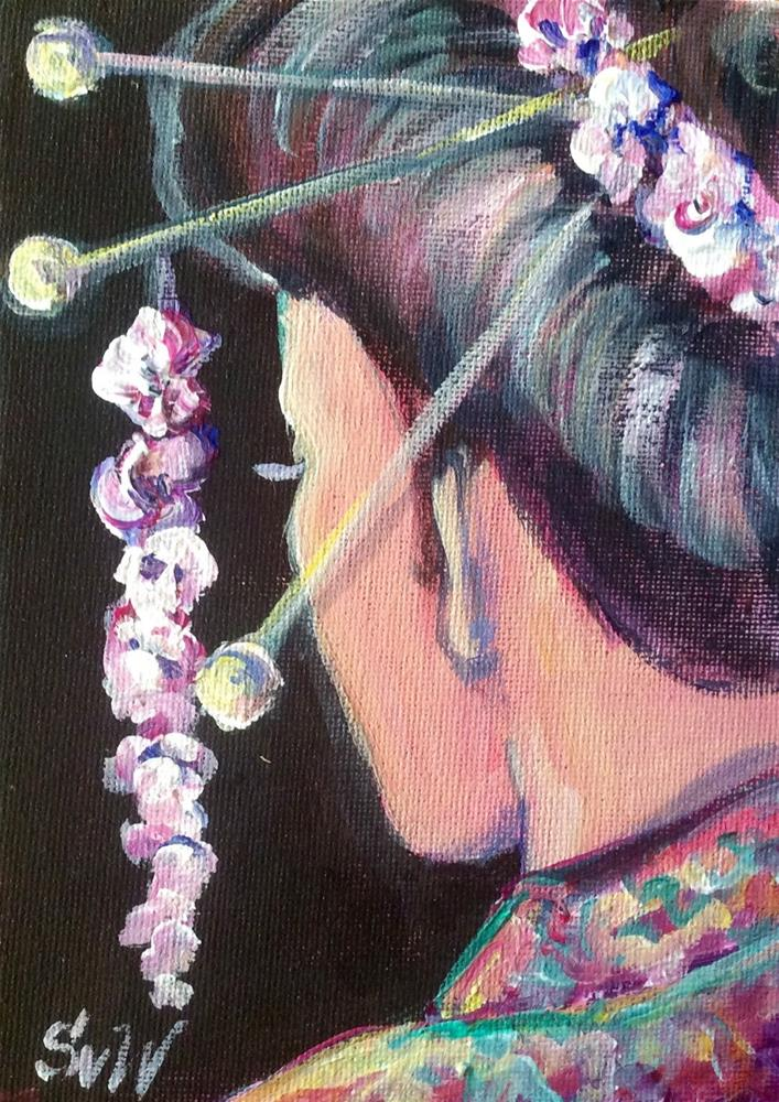 """Geisha girl"" original fine art by Sonia von Walter"