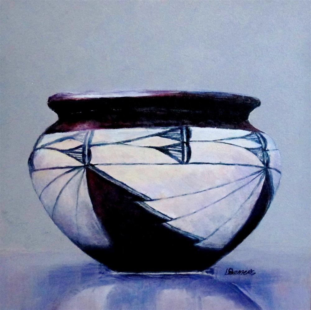 """Pueble Pottery"" original fine art by Linda Demers"