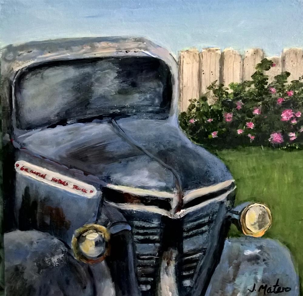 """Old Blue"" original fine art by Joan Matero"