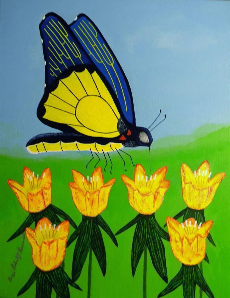 """Spring Butterfly"" original fine art by Robert Provencial"