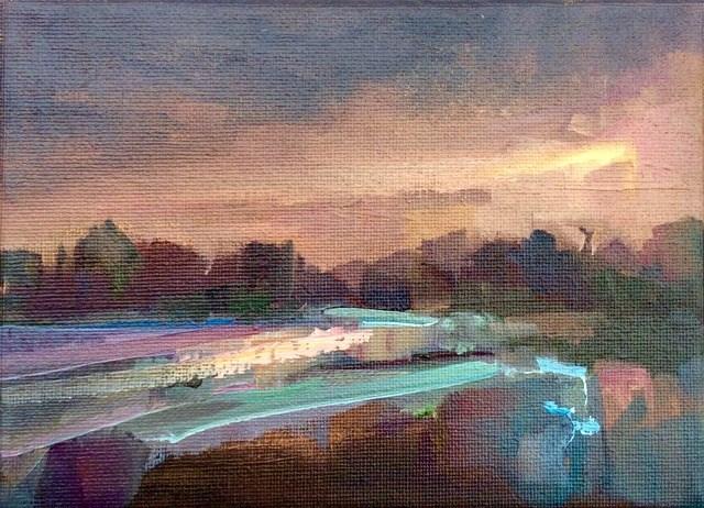 """Late Light"" original fine art by Anne Wood"
