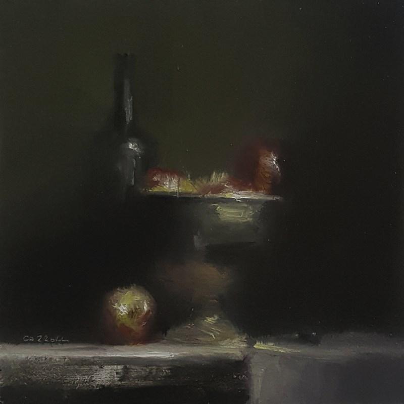 """""""Arrangement with Apples"""" original fine art by Neil Carroll"""