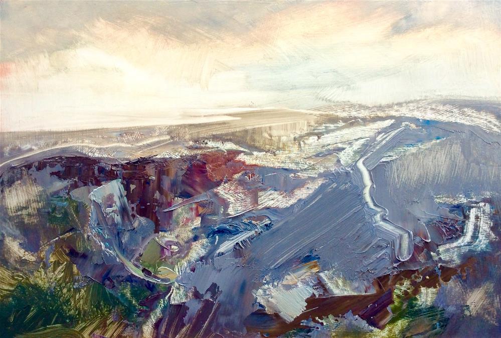 """Creek at Ebb Tide"" original fine art by Anne Wood"