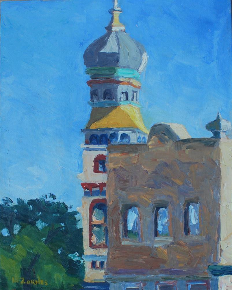 """Historic Downtown Georgetown"" original fine art by Liz Zornes"