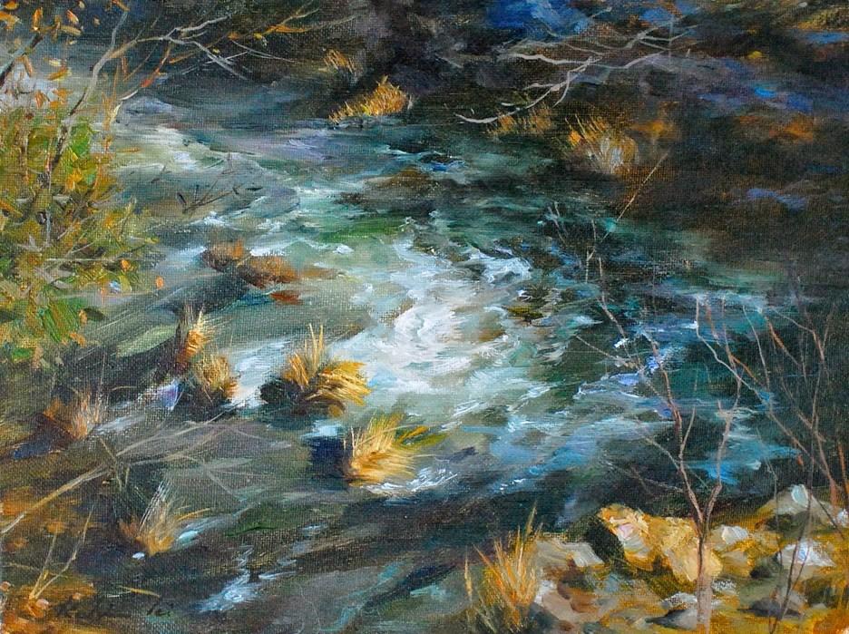"""River Series #4"" original fine art by Kelvin Lei"