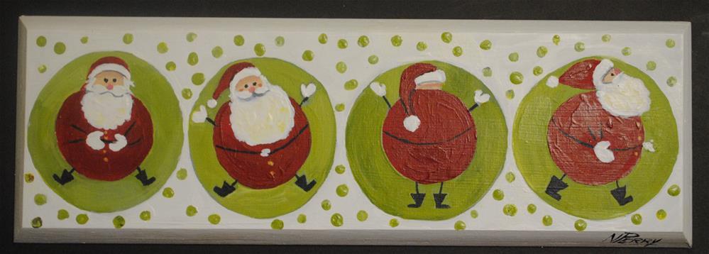 """Santa Quartet"" original fine art by Nan Perry"