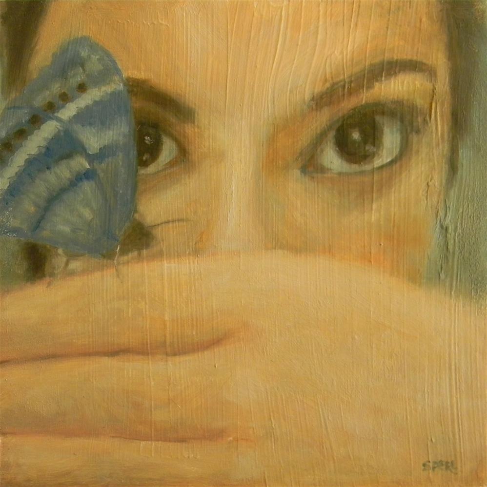 """""""Butterfly Eyes"""" original fine art by Cheri Sperl"""