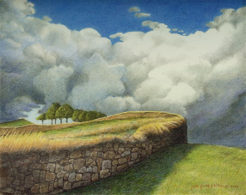 """Hadrian's Wall"" original fine art by Joe Fitzgerald"