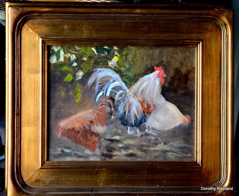 """Cock of the walk"" original fine art by Dorothy Redland"