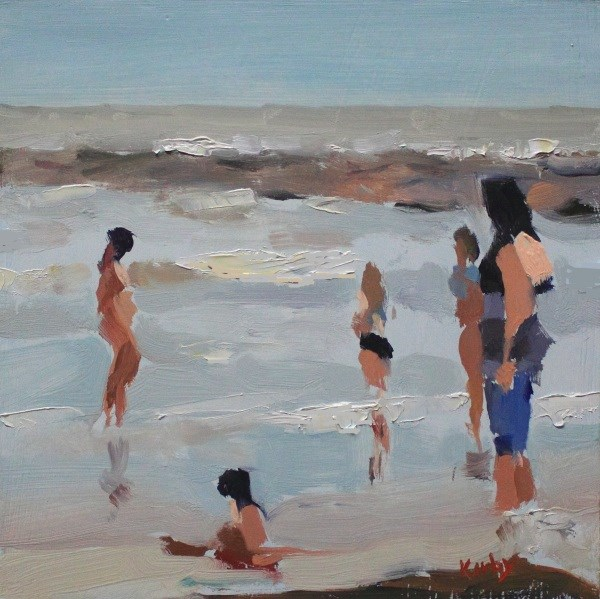 """Beachers"" original fine art by Randall Cogburn"