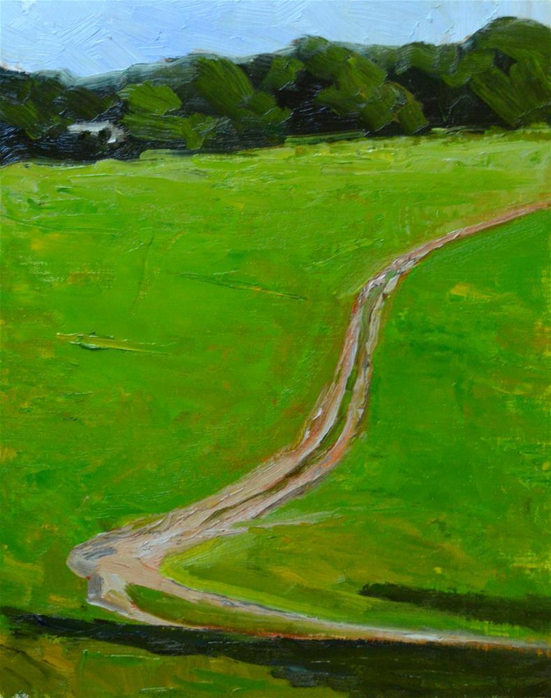 """Horse Path, Los Altos Hills"" original fine art by Peter Bain"