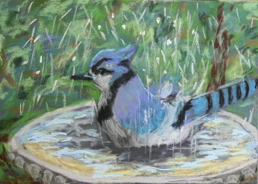 """""""Bathing Beauty"""" original fine art by Jane Frederick"""