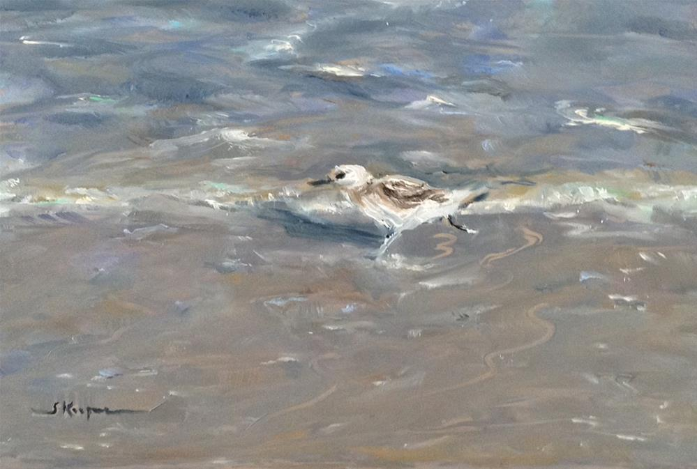 """Sandpiper on the Run"" original fine art by Shelley Koopmann"