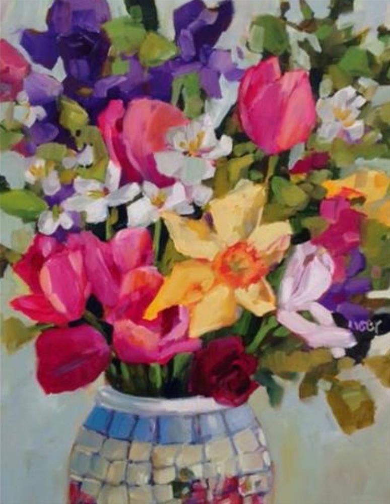 """Proud Garden"" original fine art by Libby Anderson"