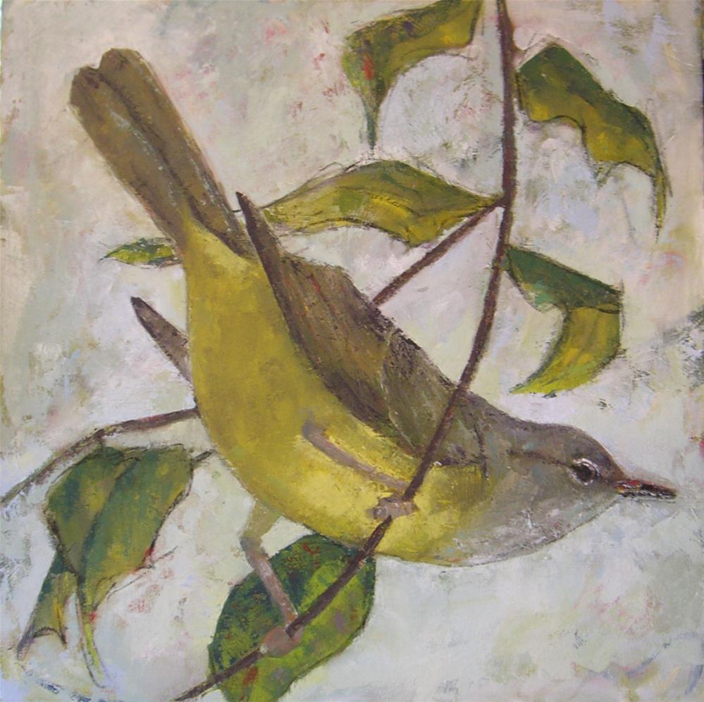 """""""Warbler"""" original fine art by Kathy Broyles"""