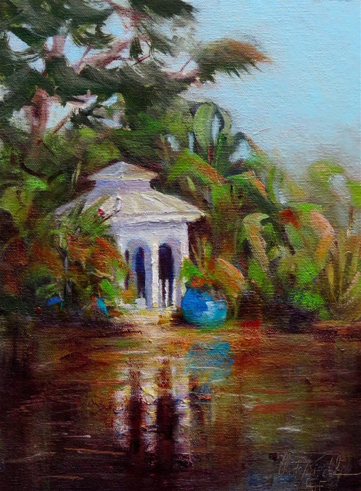 """The White Pavilion"" original fine art by Christa Friedl"
