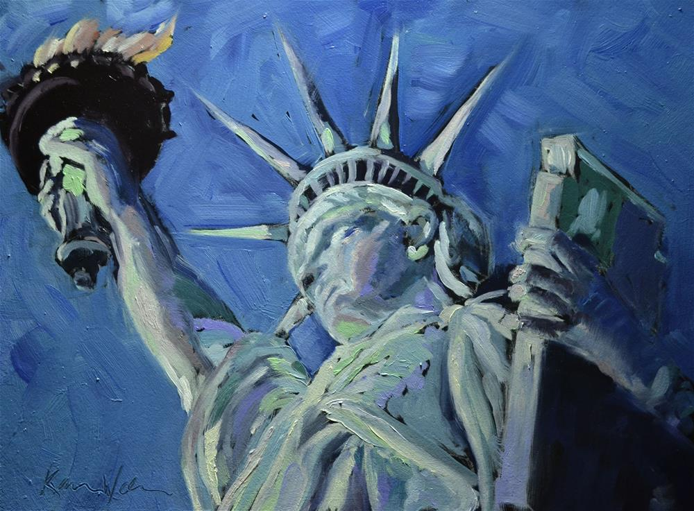 """""""Lady Liberty"""" original fine art by Karen Weber"""
