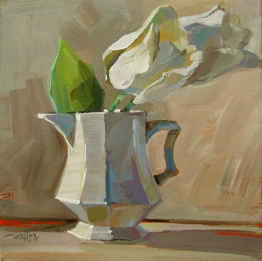 """White Tulips"" original fine art by Patti Mollica"