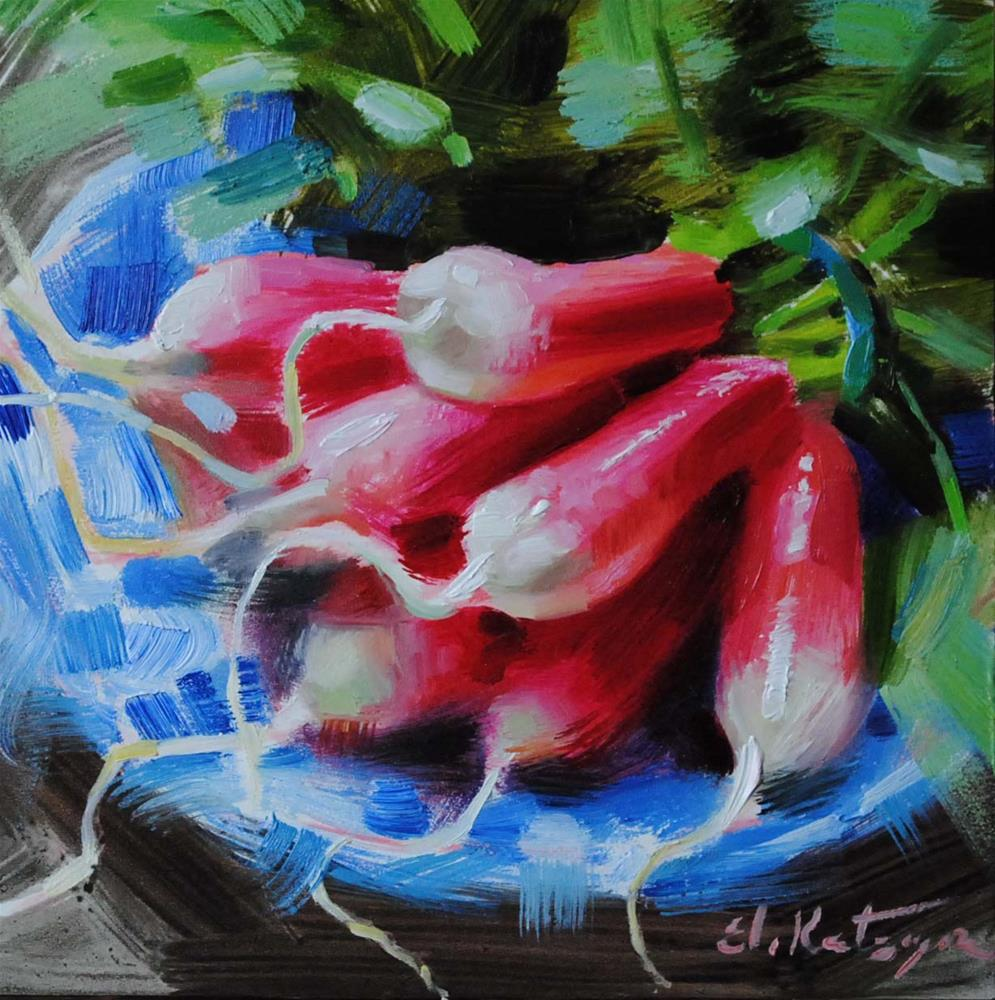 """Fresh Radishes"" original fine art by Elena Katsyura"
