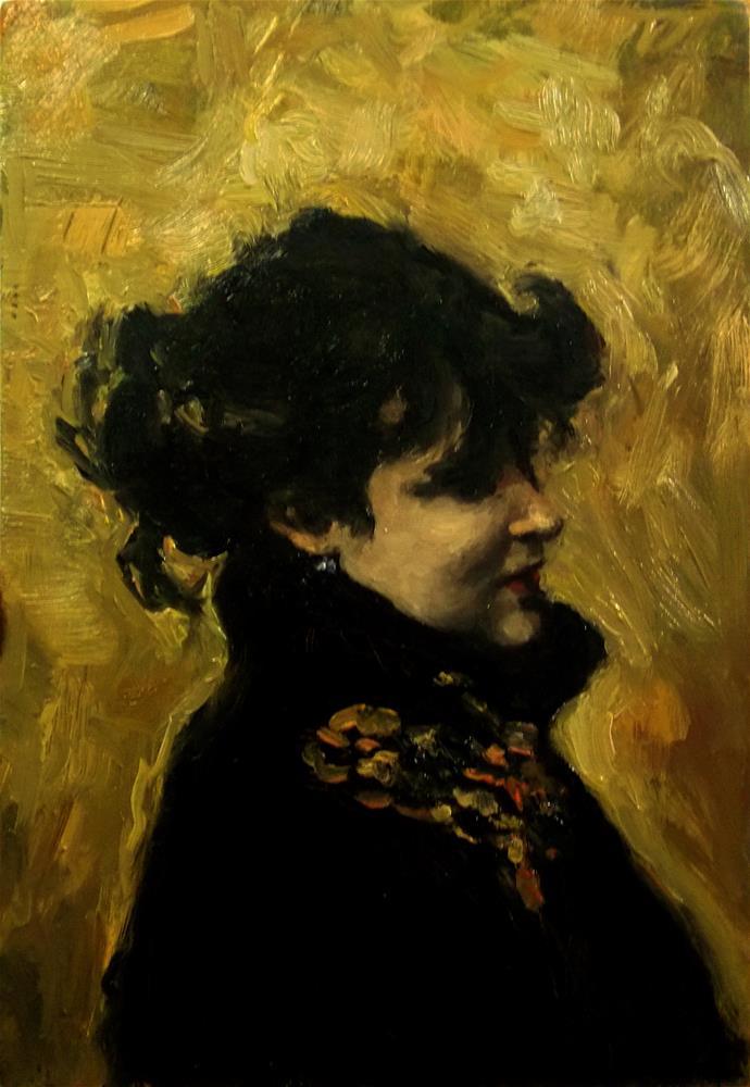 """Madame Errazurir John Singer Sargent Study"" original fine art by Aleksandra Uzarek"