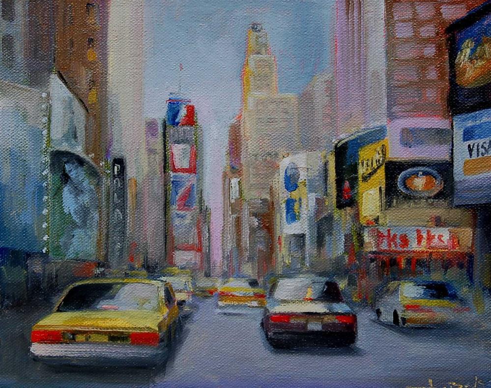 """New York. Times Square"" original fine art by V. DeBak"