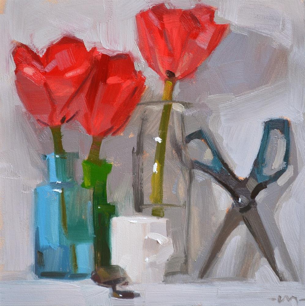 """Scissors Lurking"" original fine art by Carol Marine"
