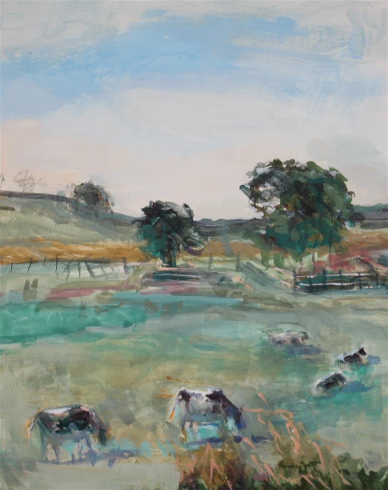 """Peaceful Pasture"" original fine art by Pamela Sweet"